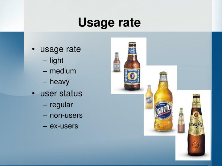 Usage rate