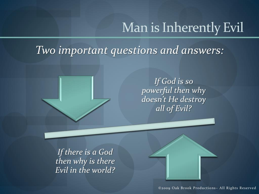 Man is Inherently Evil