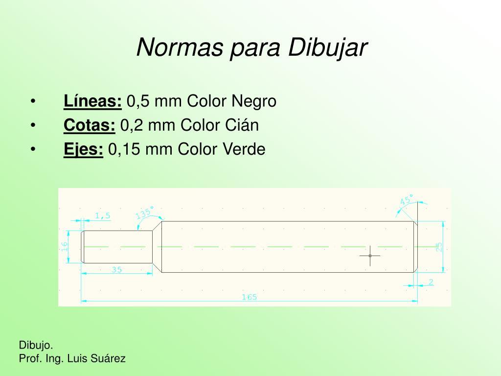 Normas para Dibujar