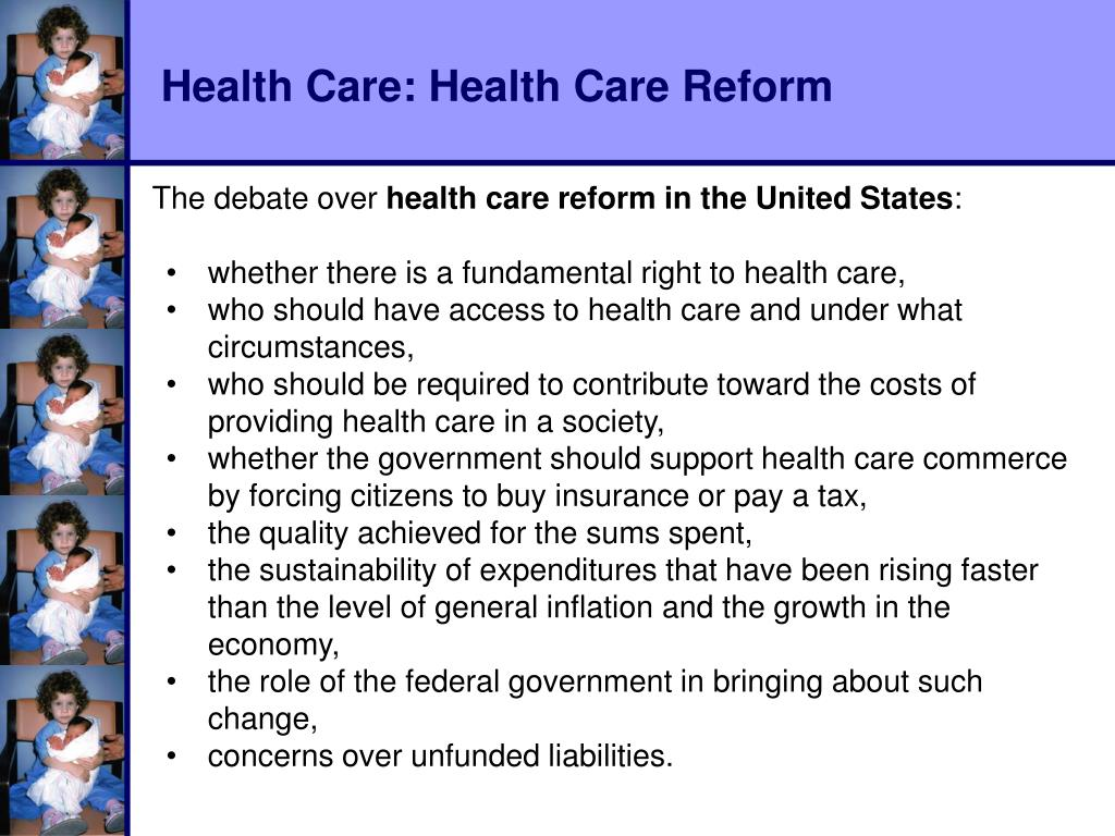 Health Care: Health Care Reform