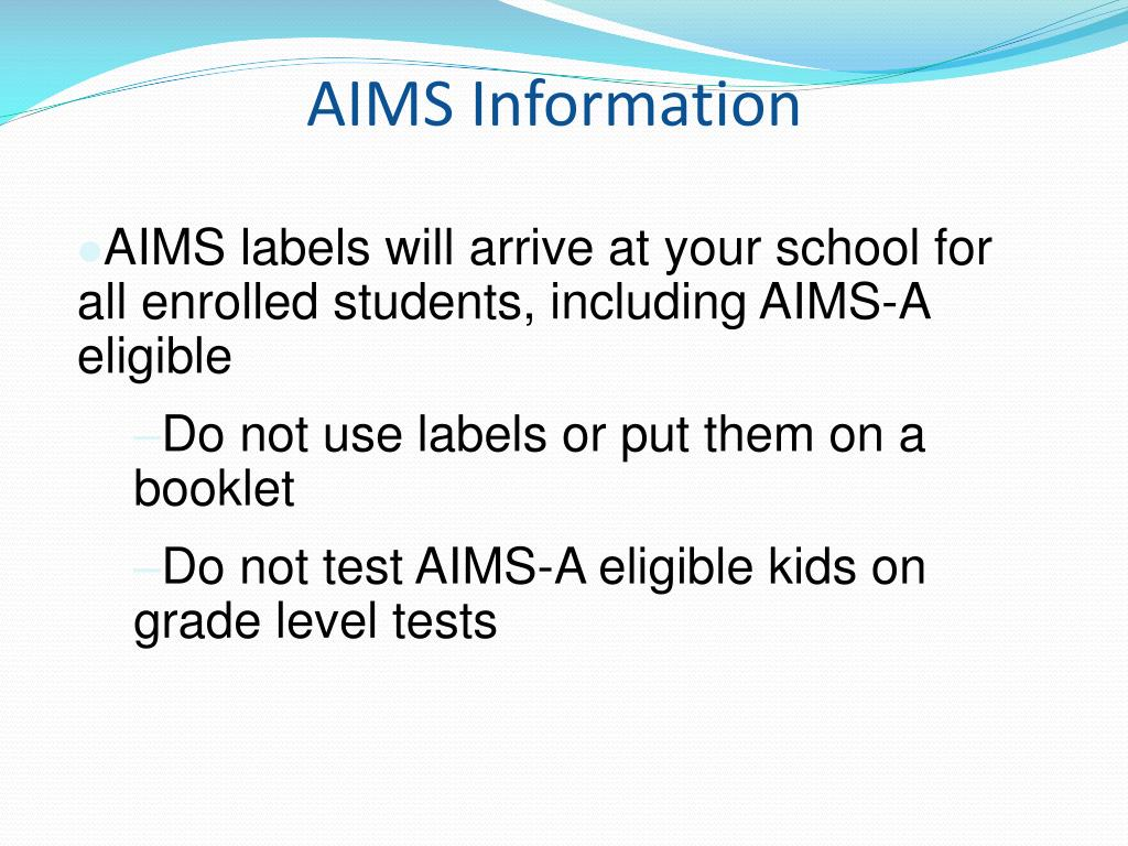 AIMS Information