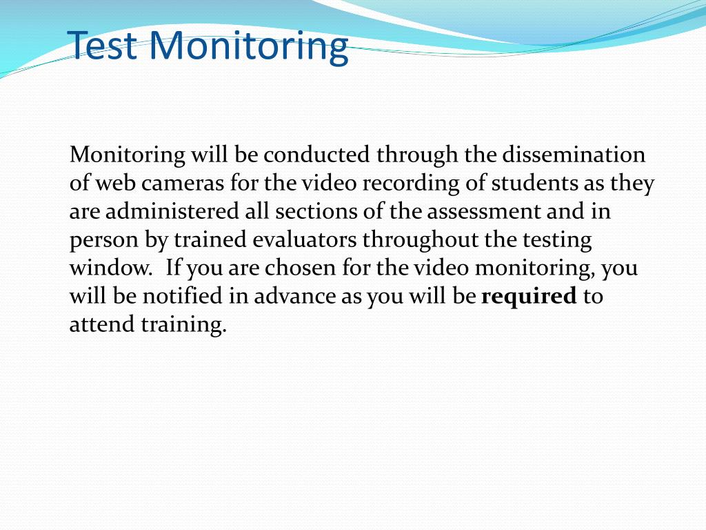 Test Monitoring