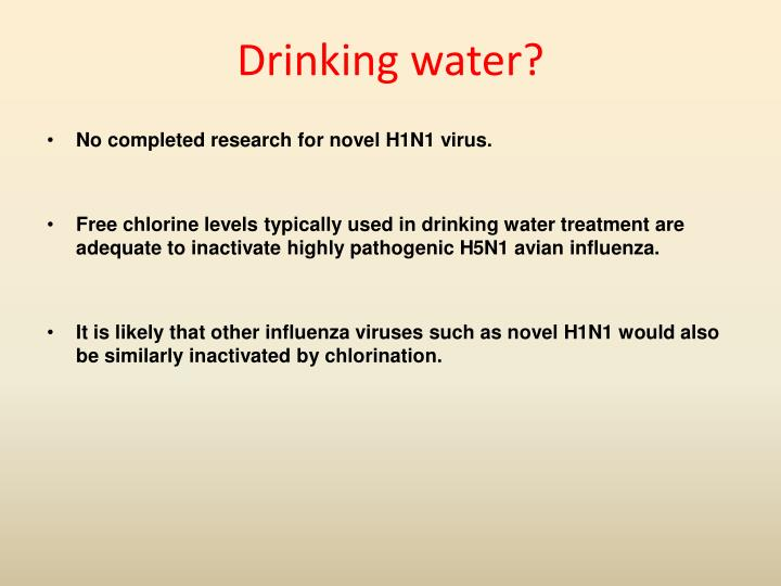 Drinking water?