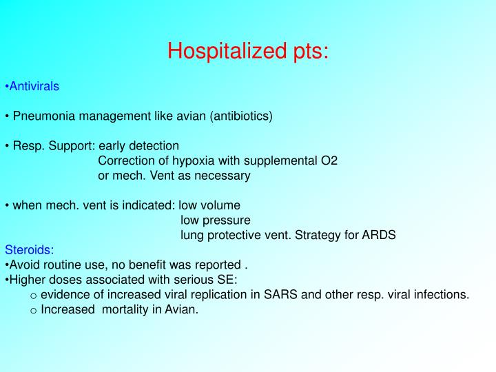 Hospitalized pts: