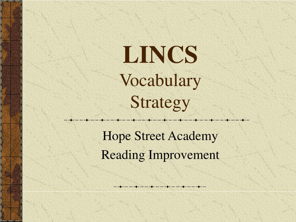 lincs vocabulary strategy
