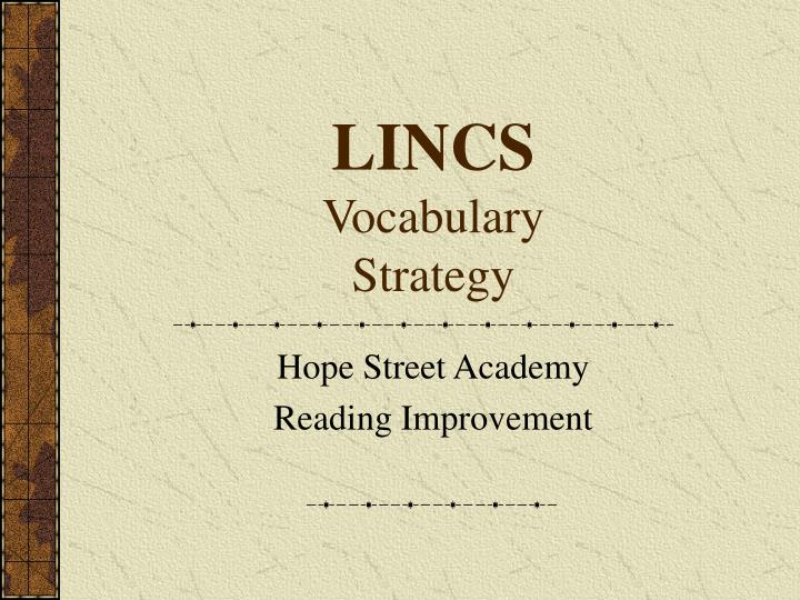 Lincs vocabulary strategy l.jpg