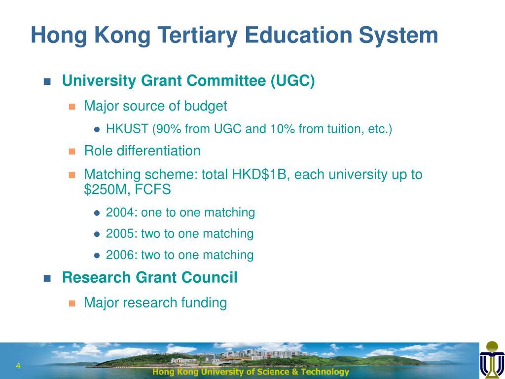 Hong Kong Tertiary Education System