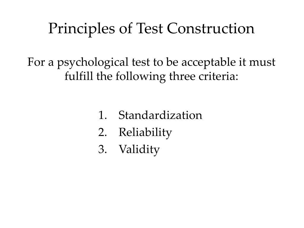 principles construct essay test