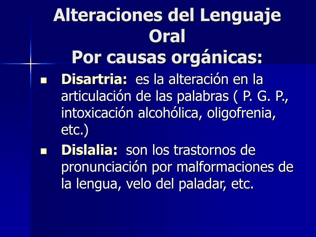 Alteraciones del Lenguaje Oral