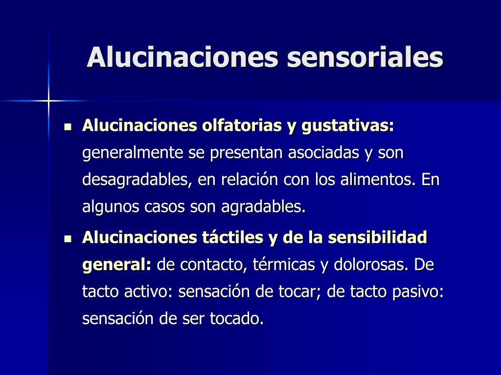 Alucinaciones sensoriales