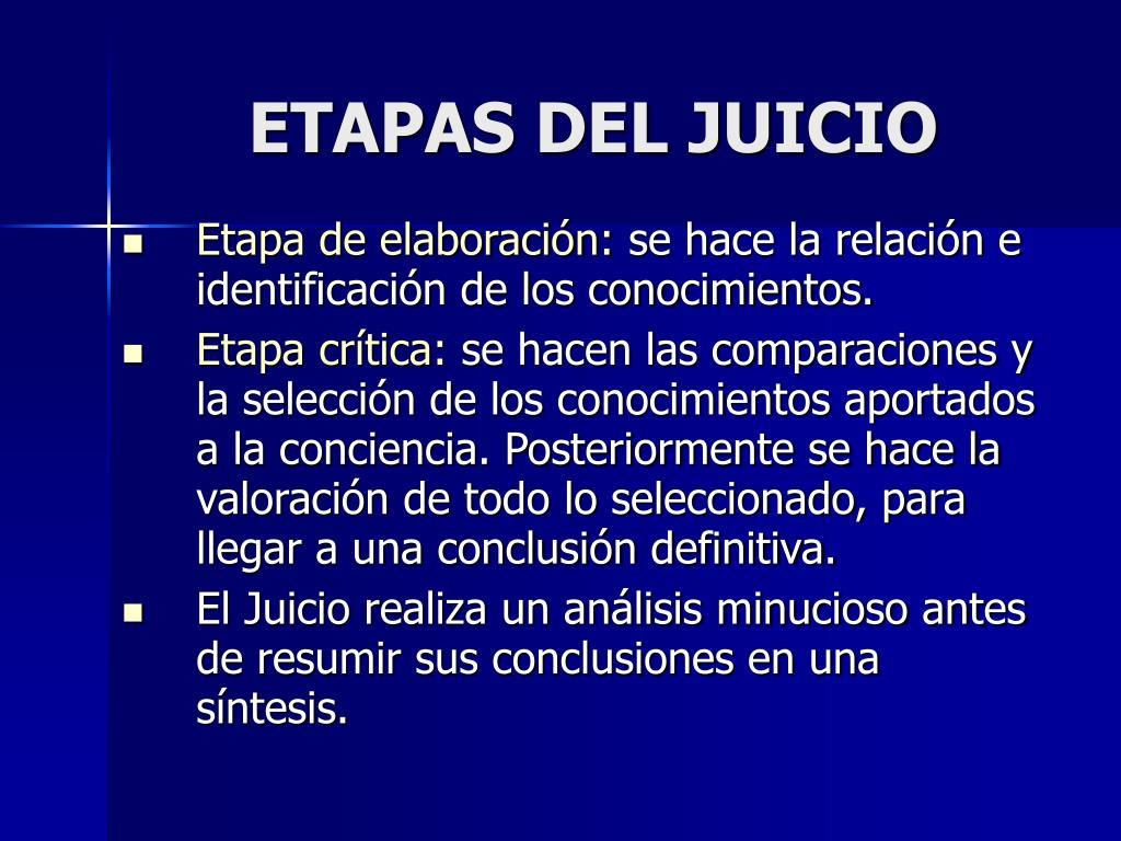 ETAPAS DEL JUICIO