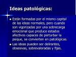 ideas patol gicas