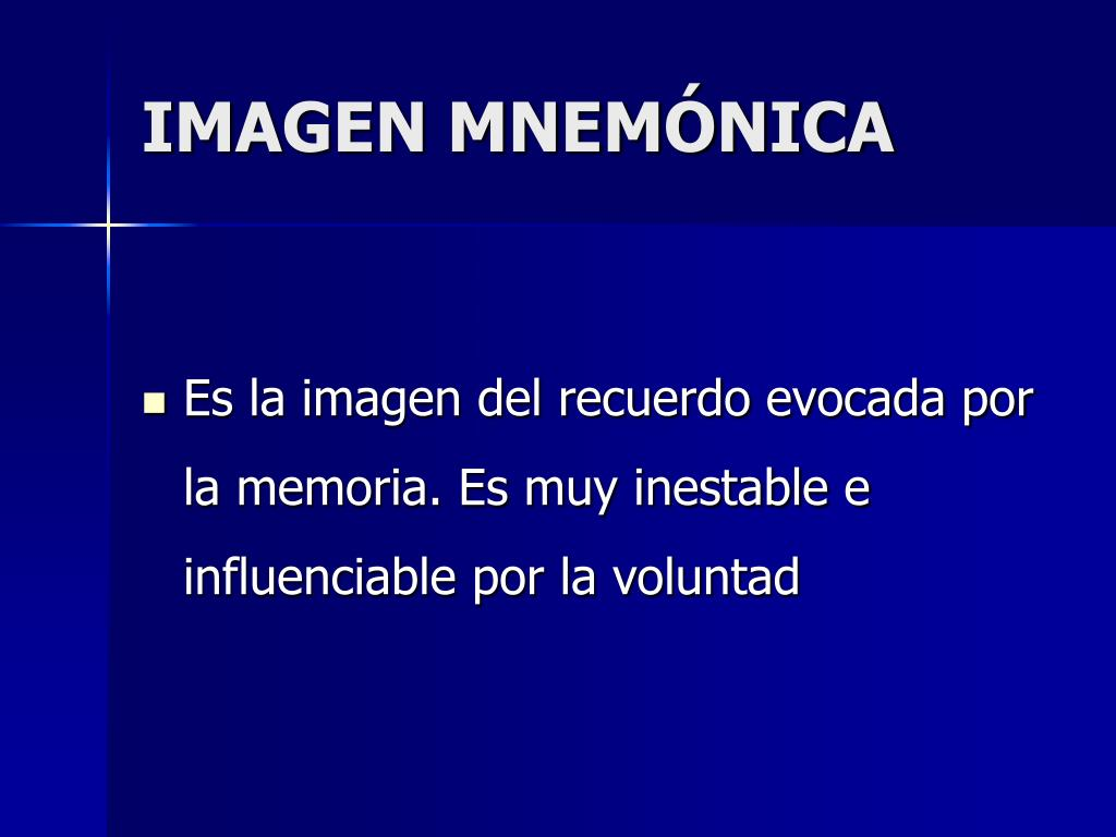 IMAGEN MNEMÓNICA