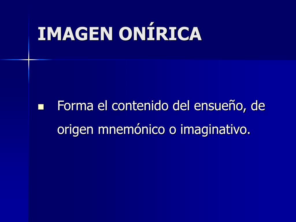 IMAGEN ONÍRICA