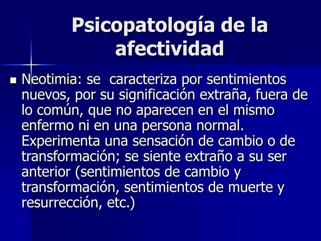 Psicopatología de la afectividad