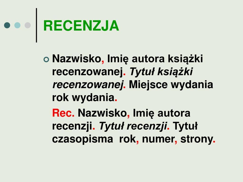 RECENZJA
