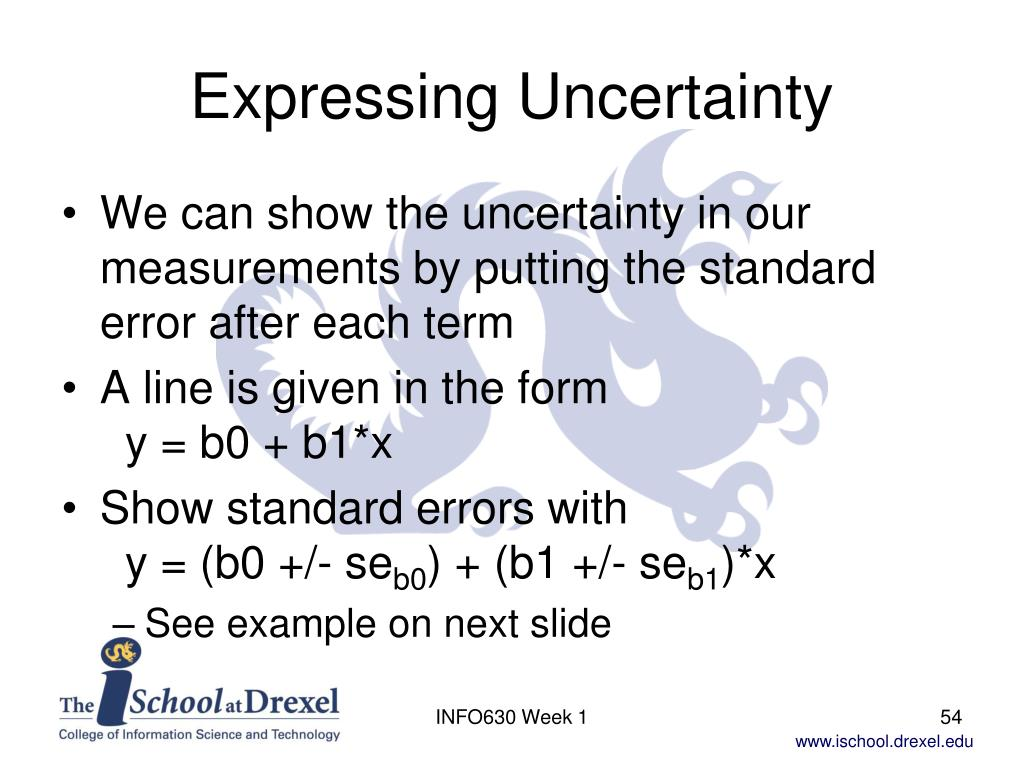 Expressing Uncertainty