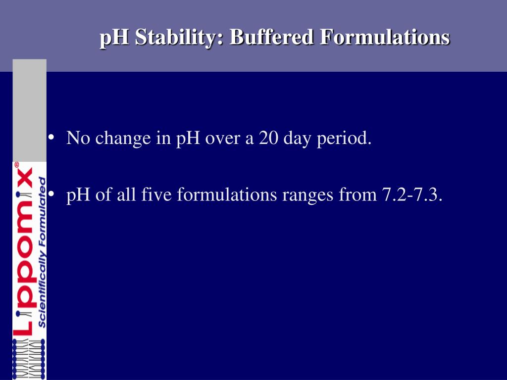 pH Stability: Buffered Formulations