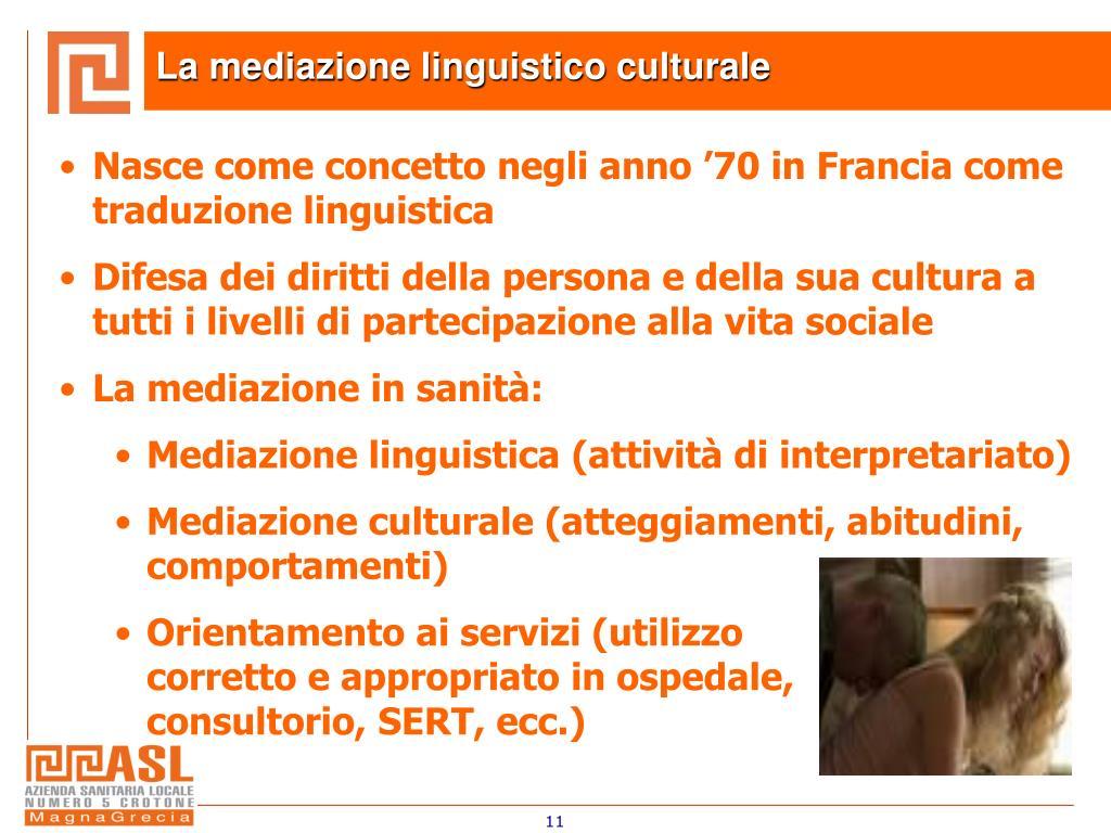 La mediazione linguistico culturale