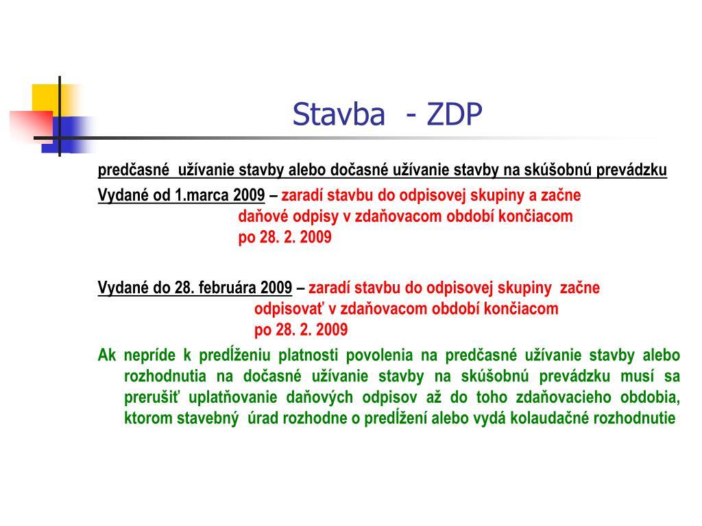 Stavba  - ZDP