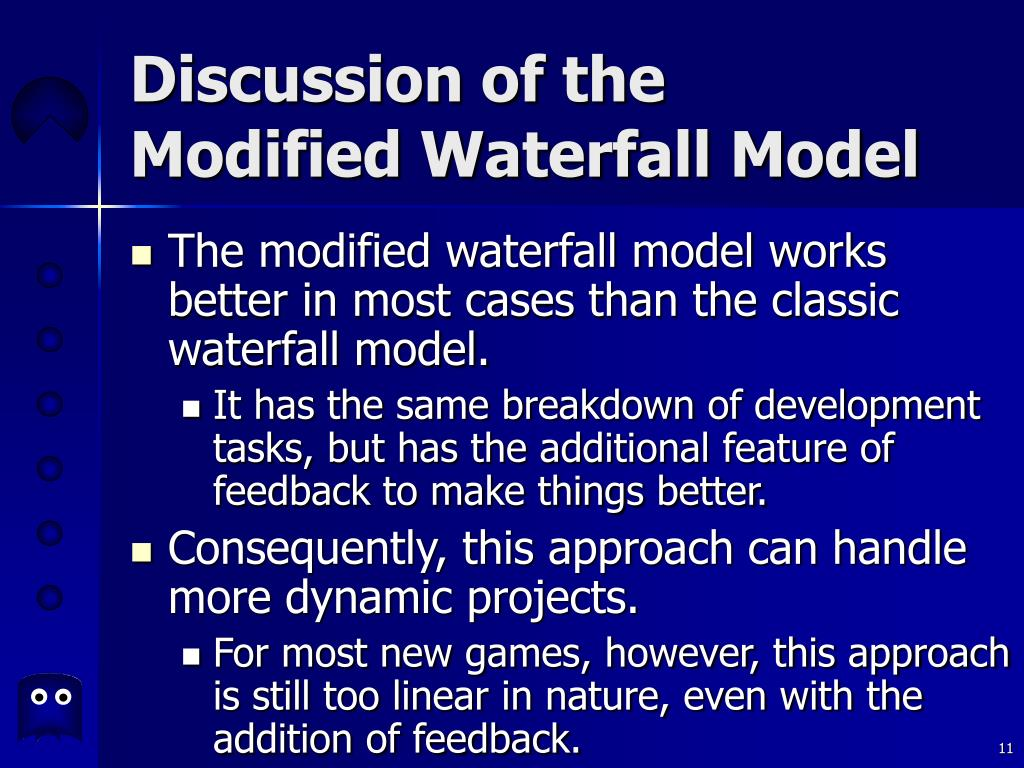 Discussion of the Modified Waterfall Model