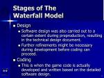 stages of the waterfall model6