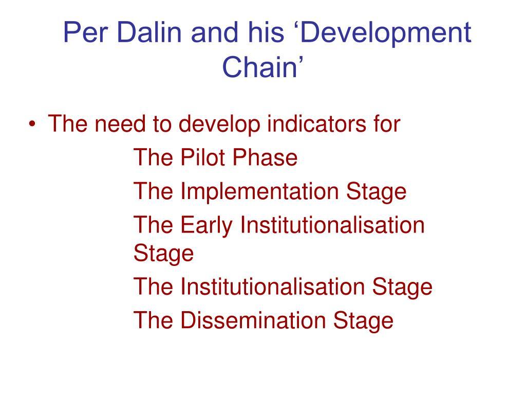 Per Dalin and his 'Development Chain'
