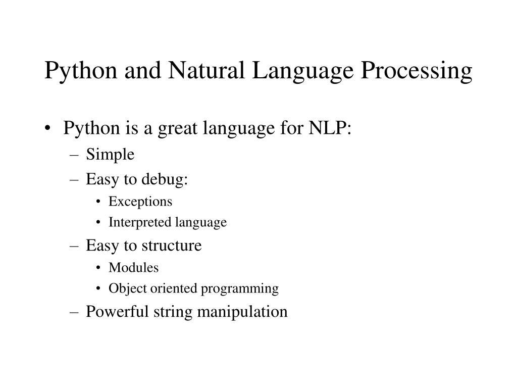 Python and Natural Language Processing