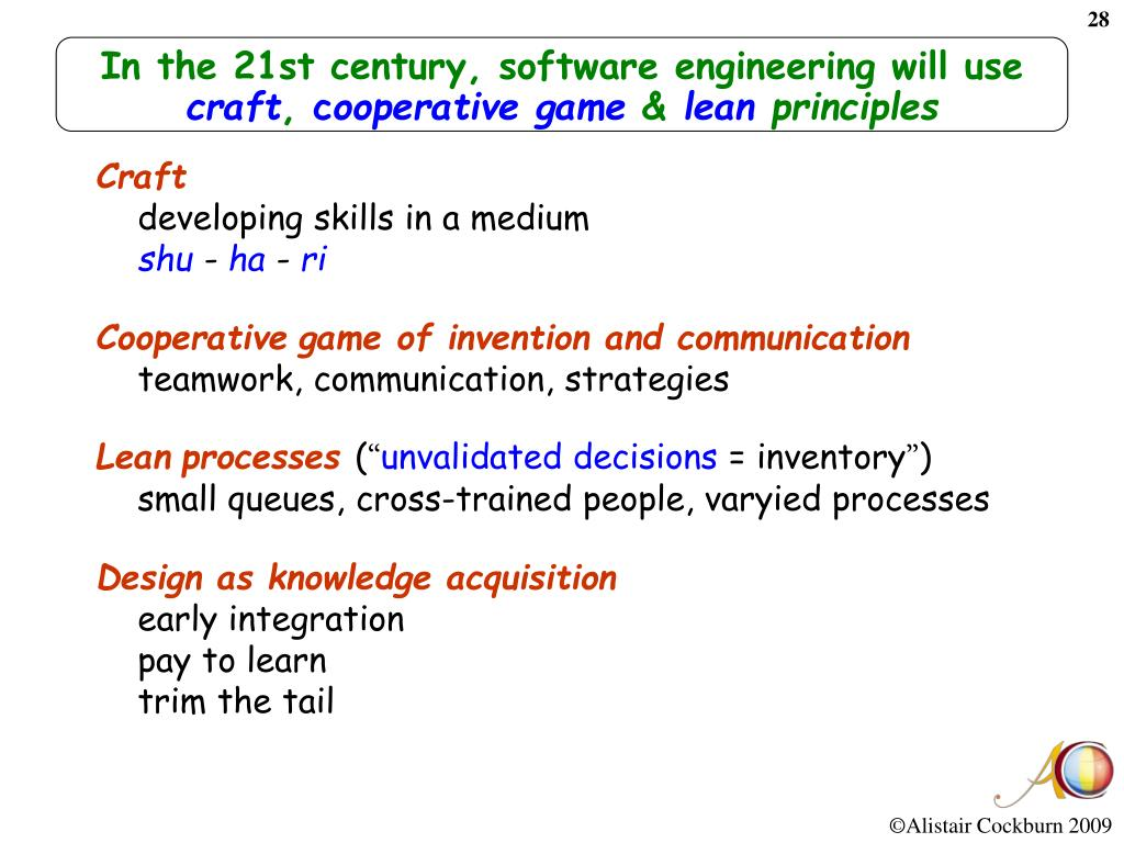 In the 21st century, software engineering will use