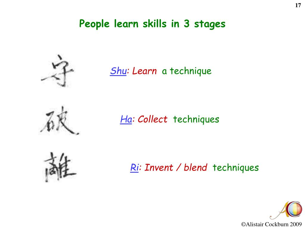 People learn skills in 3 stages