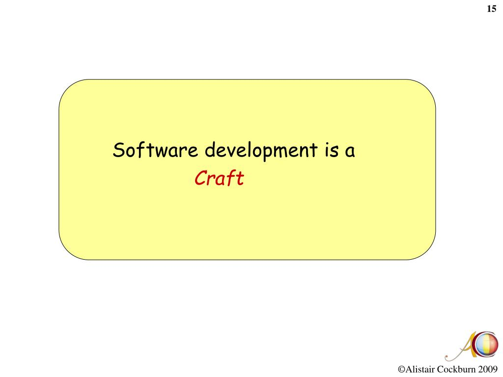 Software development is a