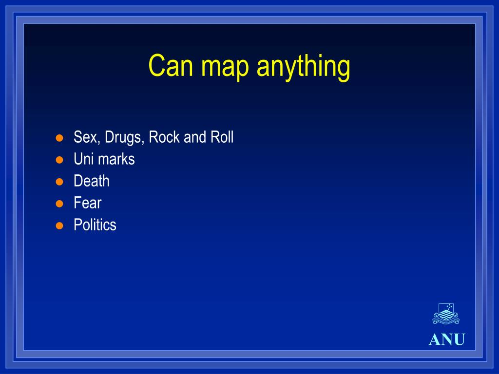 Can map anything