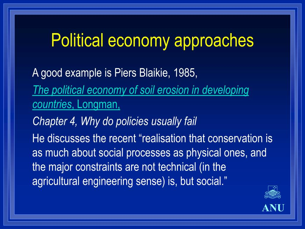 Political economy approaches