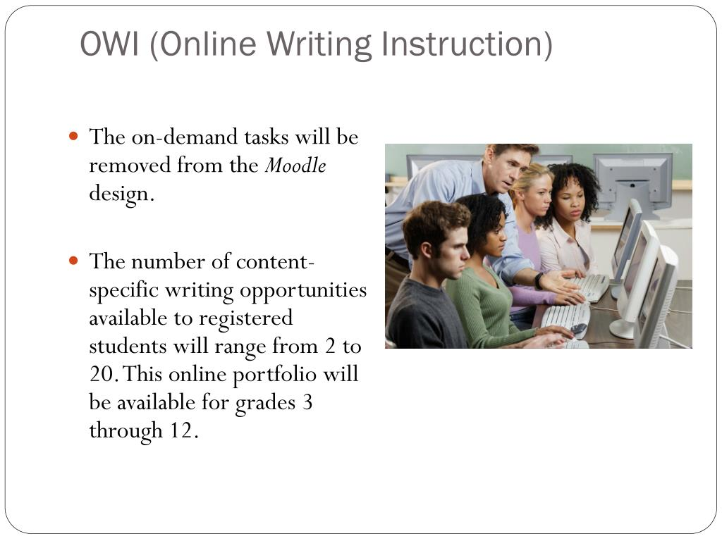 writing instruction Online writing instruction community our mission we wish to confirm that teaching writing online is different than just teaching online or teaching writing.