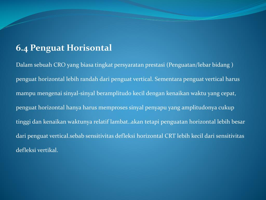 6.4 Penguat Horisontal