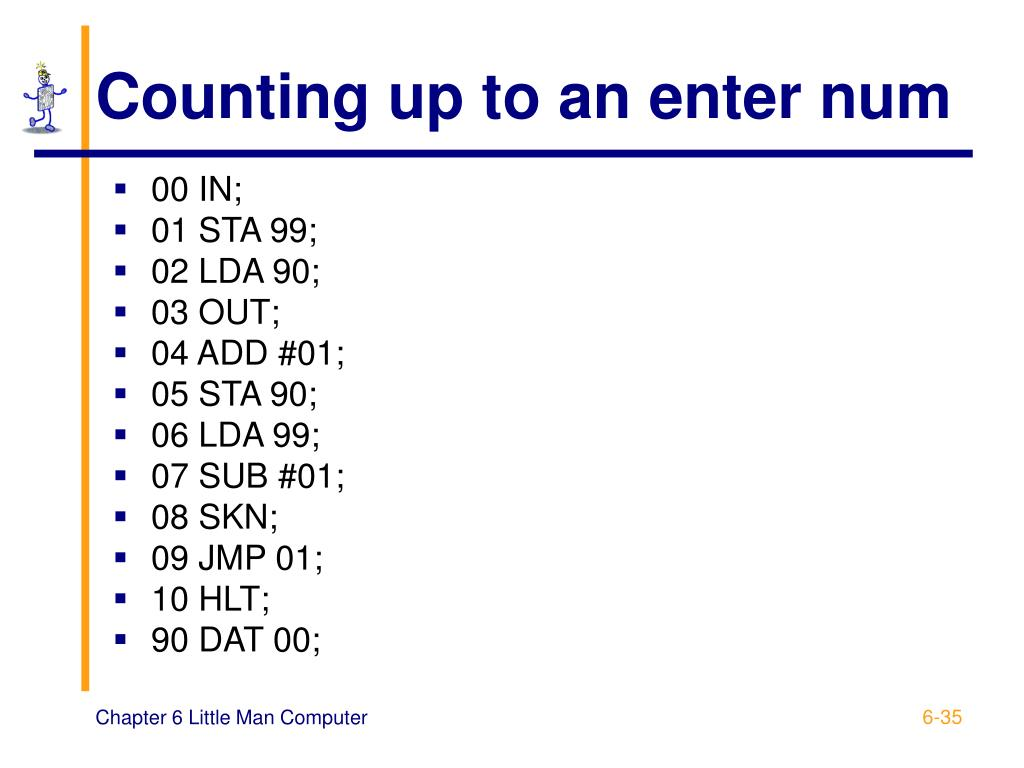 Counting up to an enter num