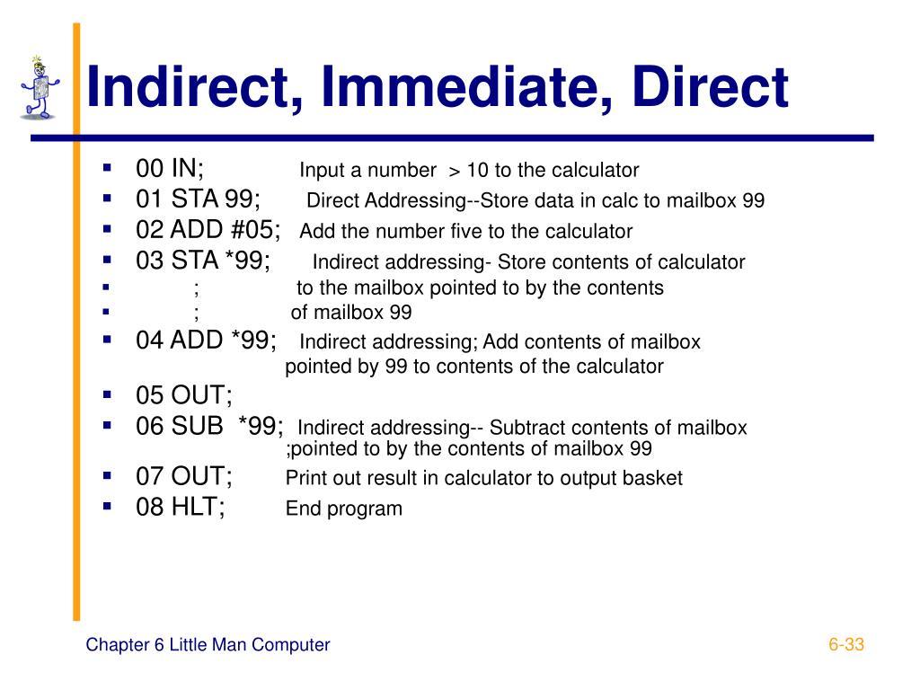 Indirect, Immediate, Direct