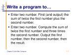 write a program to