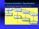 process activities specification