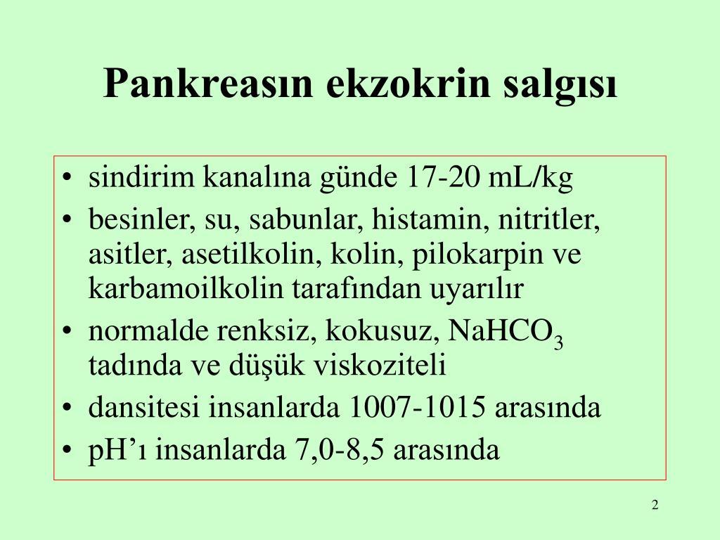 Pankreasın ekzokrin salgısı