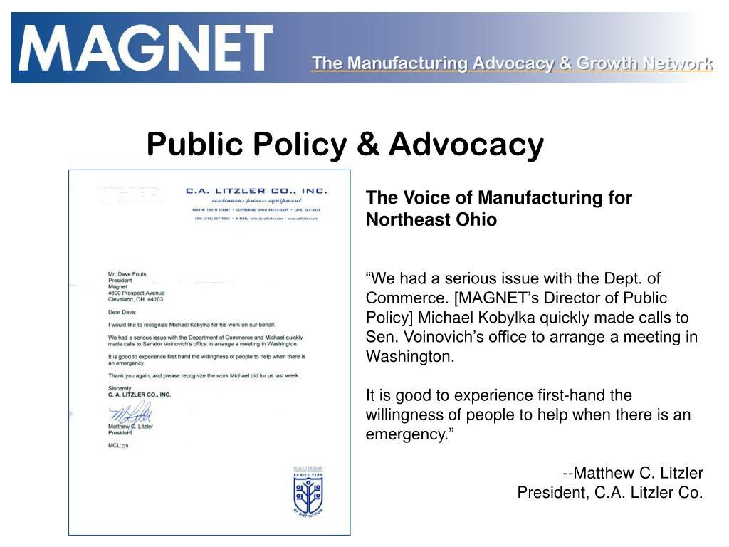 Public Policy & Advocacy