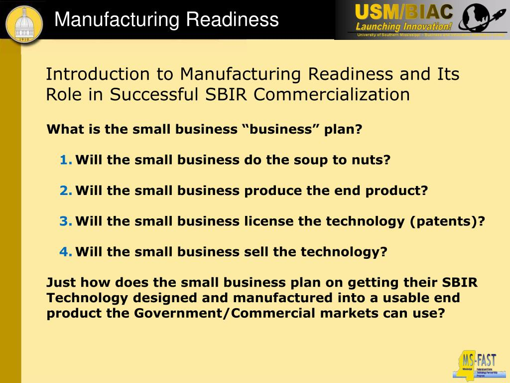 Manufacturing Readiness