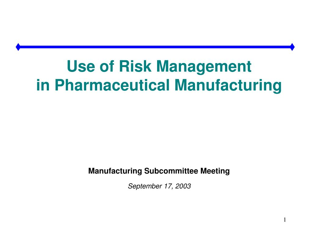 Use of Risk Management