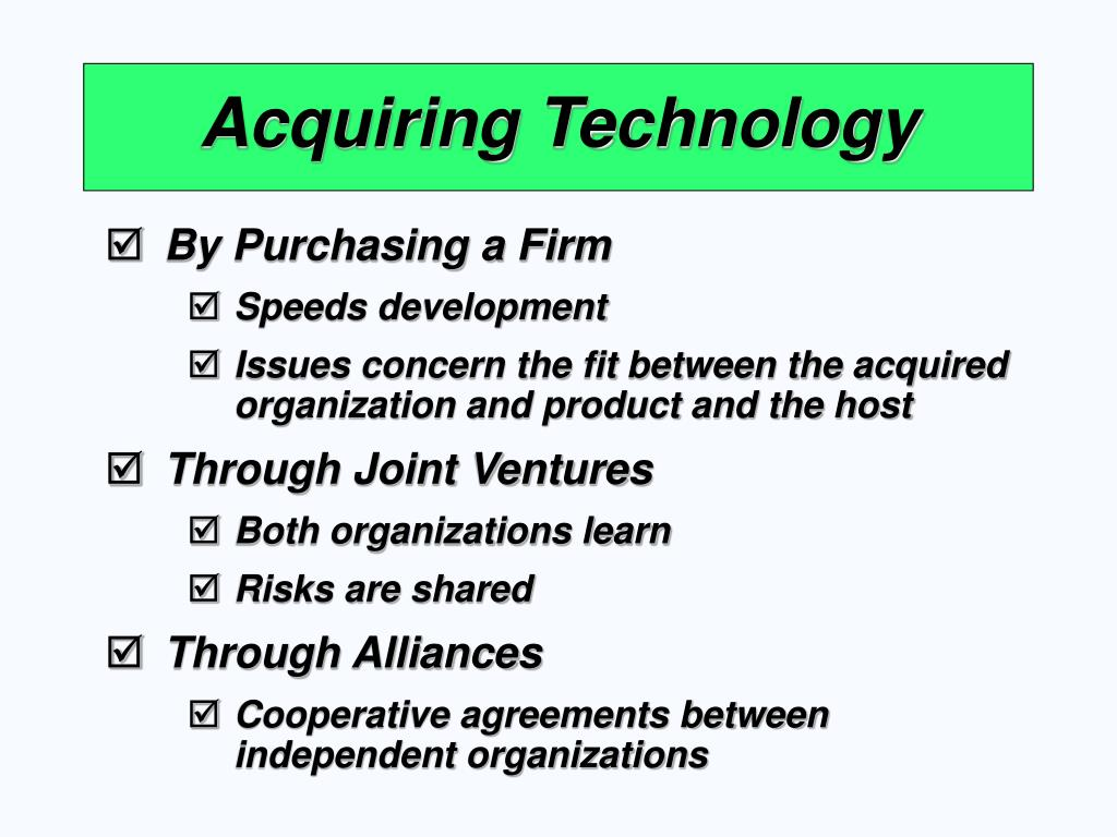 Acquiring Technology