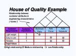 house of quality example24