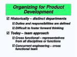 organizing for product development