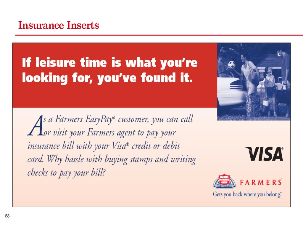 Insurance Inserts
