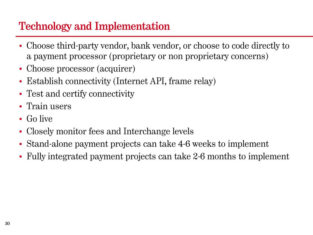 Technology and Implementation