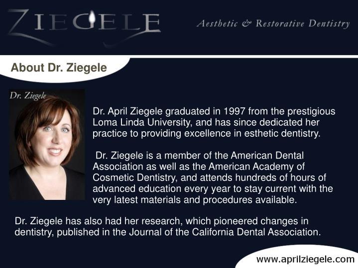 About Dr. Ziegele