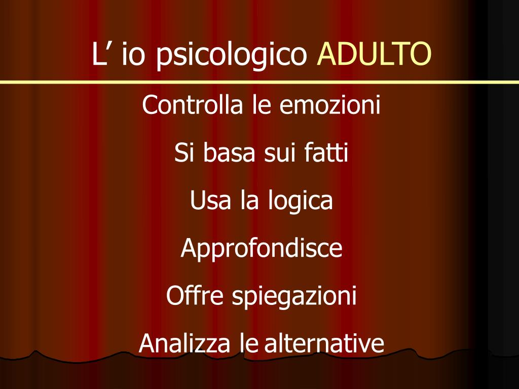L' io psicologico